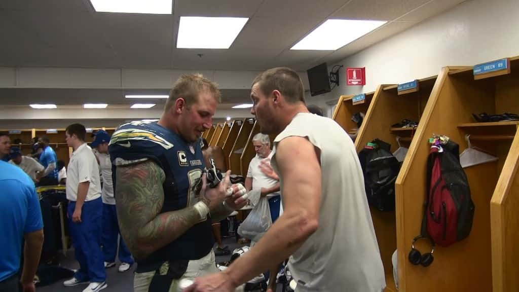 Nick Hardwick & Philip Rivers by Marty Caswell